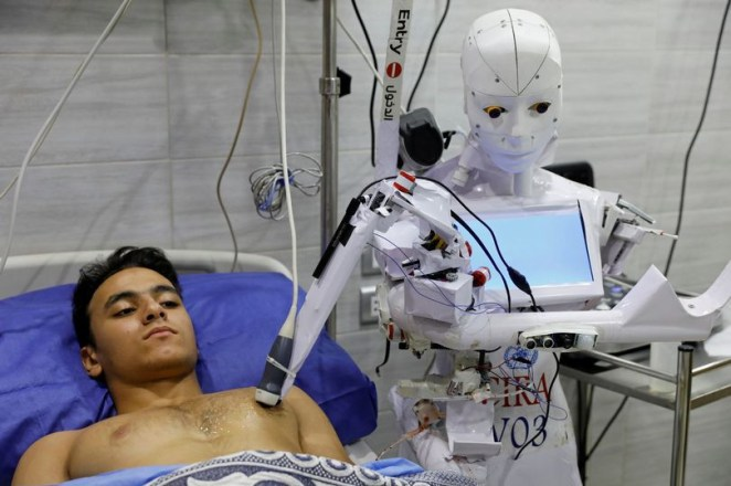 Robot that can detect coronavirus and enforce face mask rules undergoes trials