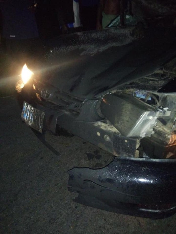 Cow crashes into car in Delta lindaikejisblog 7