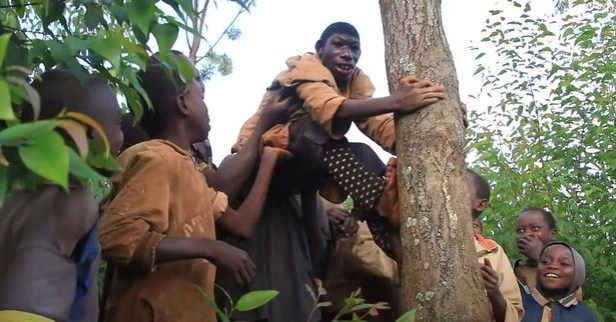 Mum reveals how her son is always bullied by villagers because he lives in jungle among wild animals, eats grass and can