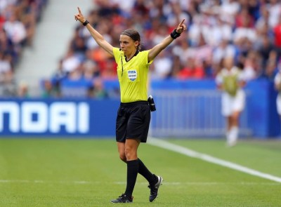 Stephanie Frappart set to make history as the first female referee to take charge of a men's Champions League