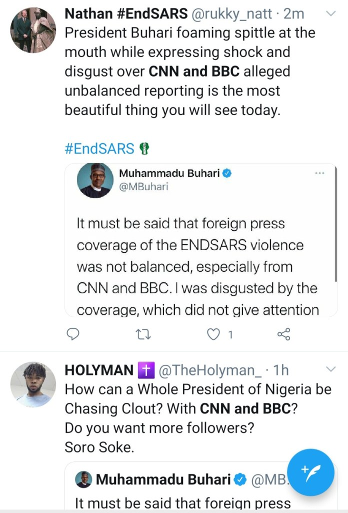 CNN and BBC trends as Nigerians react to Buhari