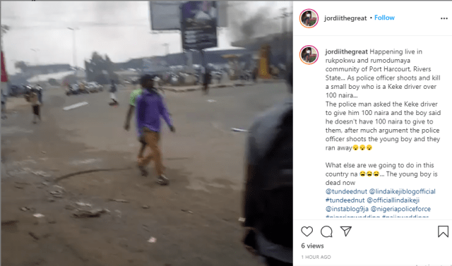 """Unrest in Rukpokwu community of Rivers State as young Keke Napep driver is allegedly shot dead by a policeman over """"N100"""" (video)"""