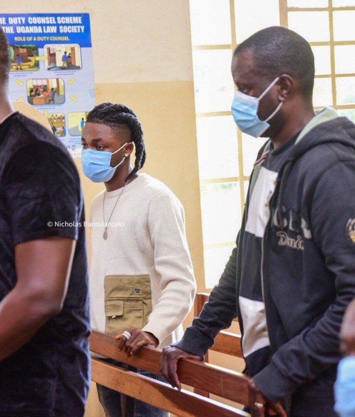 Nigerian singers, Omah Lay and Tems arraigned in court for flouting COVID-19 guidelines in Uganda (photos)