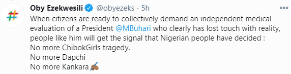 President Buhari should leave his cows for once in preference for the lives of his fellow human beings - Oby Ezekwesili