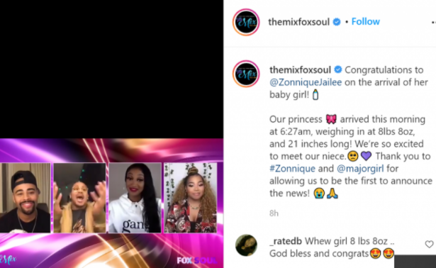 Tiny Harris' daughter Zonnique gives birth to baby girl