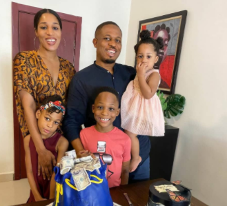 Rapper, NaetoC celebrates his birthday with his wife and children (photos)