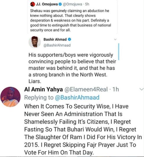 I regret slaughtering a ram for Buhari