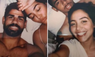 Intimate photos of football stars Diego Costa and Gabriel Jesus in bed with the same mystery woman