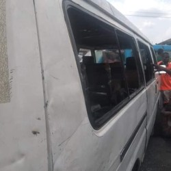 Policemen allegedly beat, strip the driver and vandalise his vehicle over refusal to pay bribery in Port Harcourt.