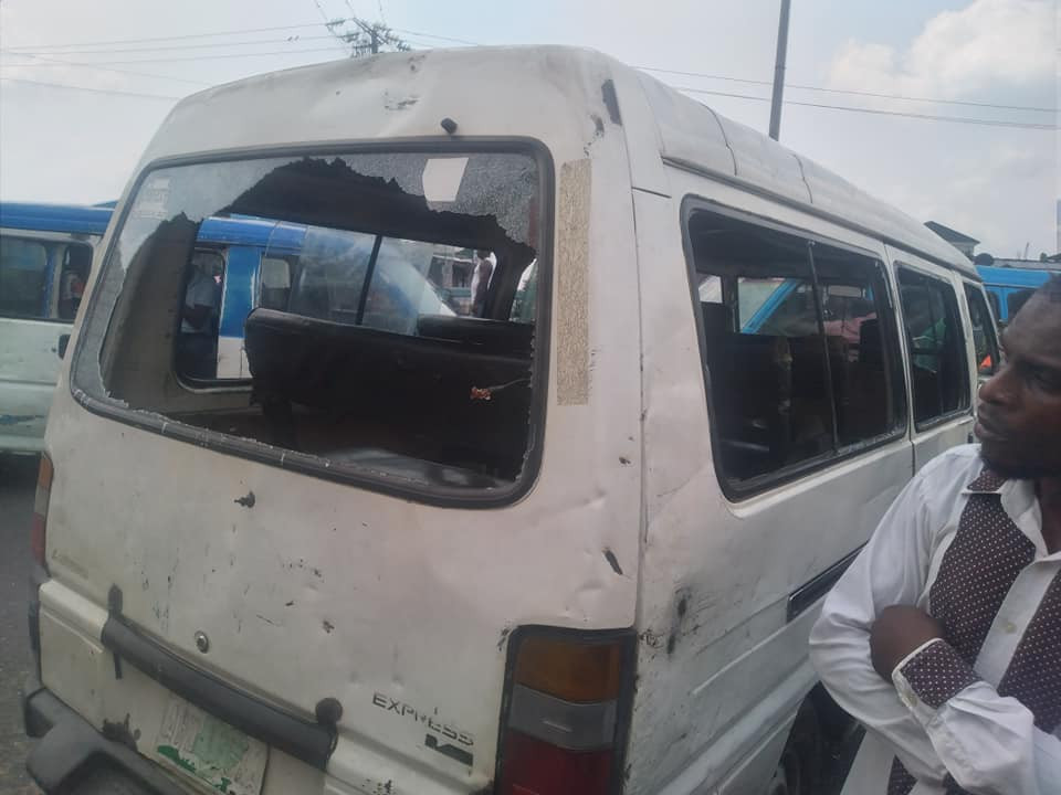 Policemen allegedly beat, strip driver and vandalize his vehicle over refusal pay to bribe in Port Harcourt