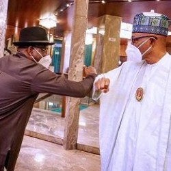 Photo News: President Buhari in closed-door meeting with former President Goodluck Jonathan at the State House
