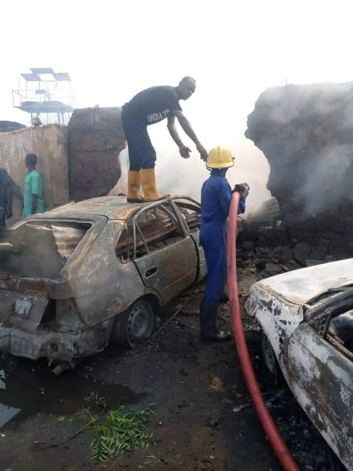 Sixteen persons killed and several houses destroyed as petrol tanker explodes in Kwara (graphic)