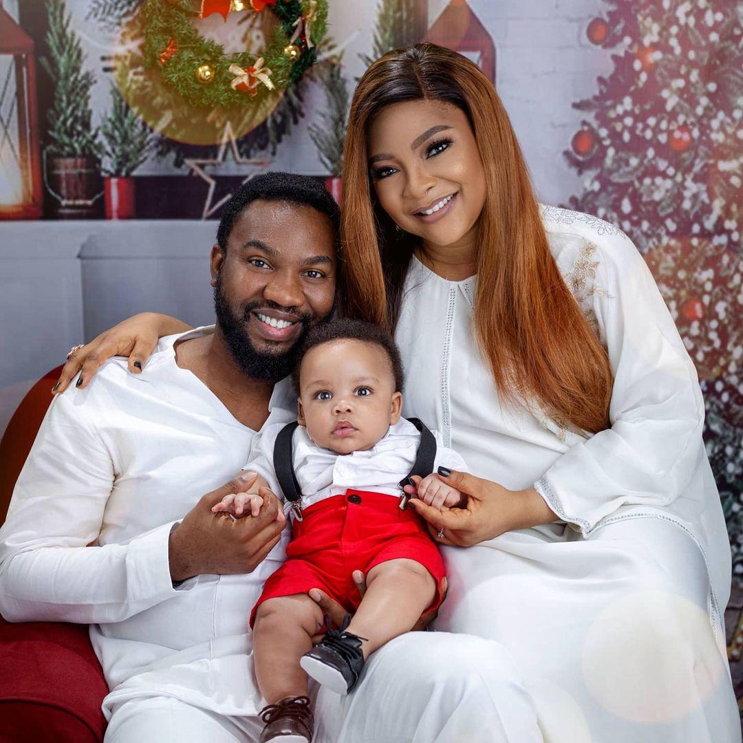 Actors Linda and Ibrahim Suleman share adorable Christmas photos with their son