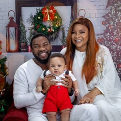 Actors Linda and Ibrahim Suleman share lovely Christmas pictures with their son.