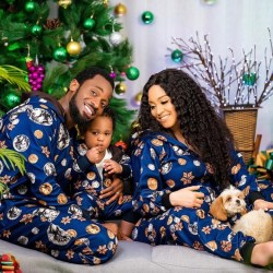 Incredibly cute Xmas pictures of Dbanj and his family