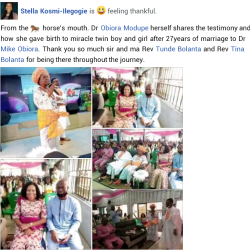 Nigerian couples embrace twins following 27 years of marriage