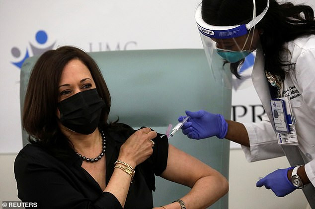 US Vice President-elect, Kamala Harris receives?her first dose of Moderna