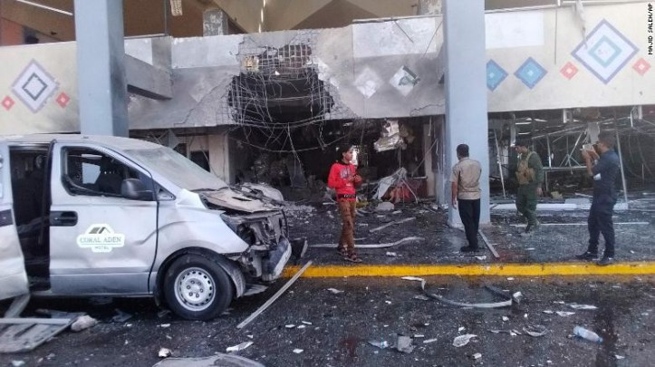 Yemen war: Deadly attack at Aden airport by suspected Houthi rebels kills 22 and injures 50 (ohotos)
