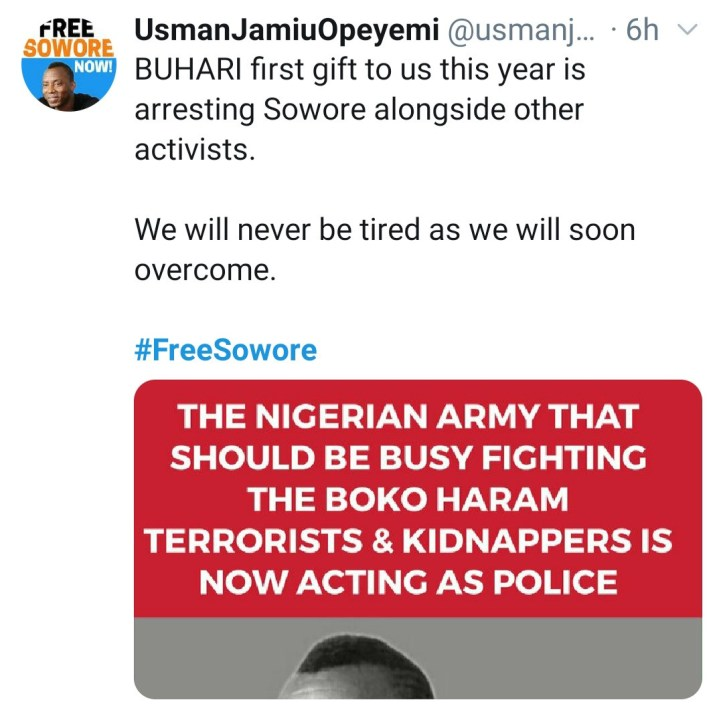 #FreeSowore trends as Omoyele Sowore and other activists are reportedly arrested in Abuja
