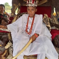 A boy proclaimed King in Anambra, as young as Ten.