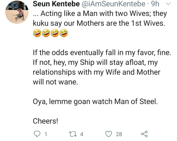 Man whose mother and wife don