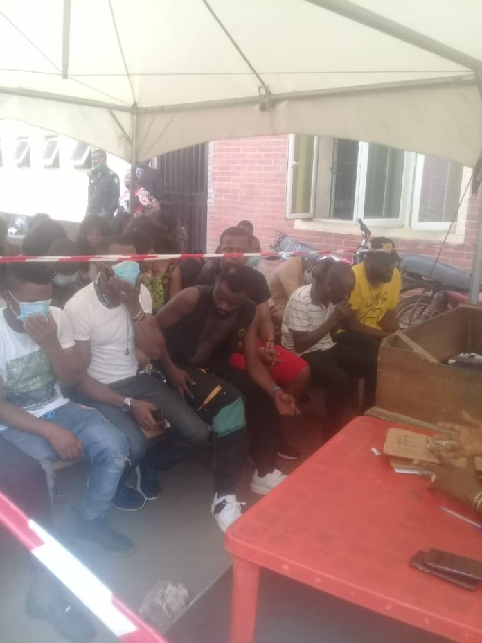 Lagos police command arrest 43 clubgoers and strippers for violating COVID19 protocols (photos)