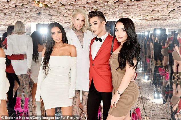 Kim Kardashian left