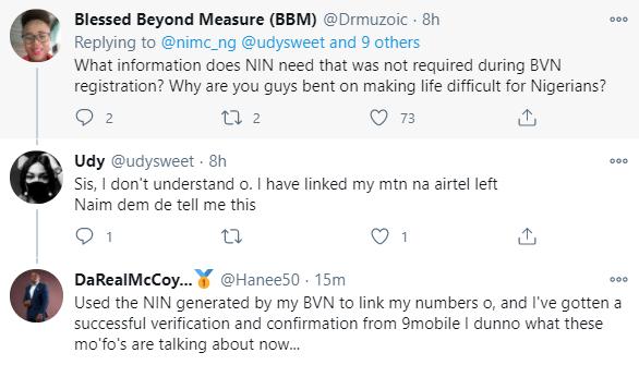 Nigerians react to NIMC