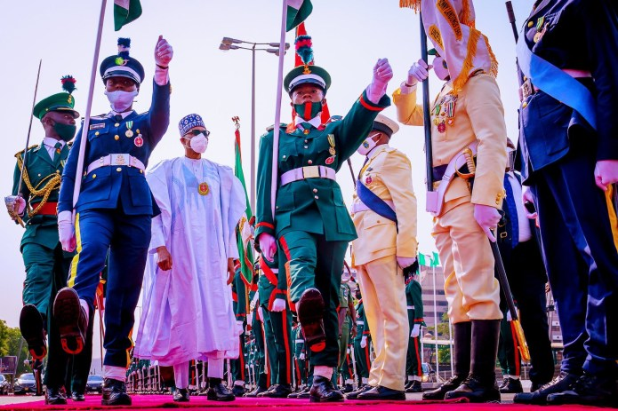 President Buhari, Osinbajo, others at the 2021 Armed Forces Remembrance Day celebration (photos)