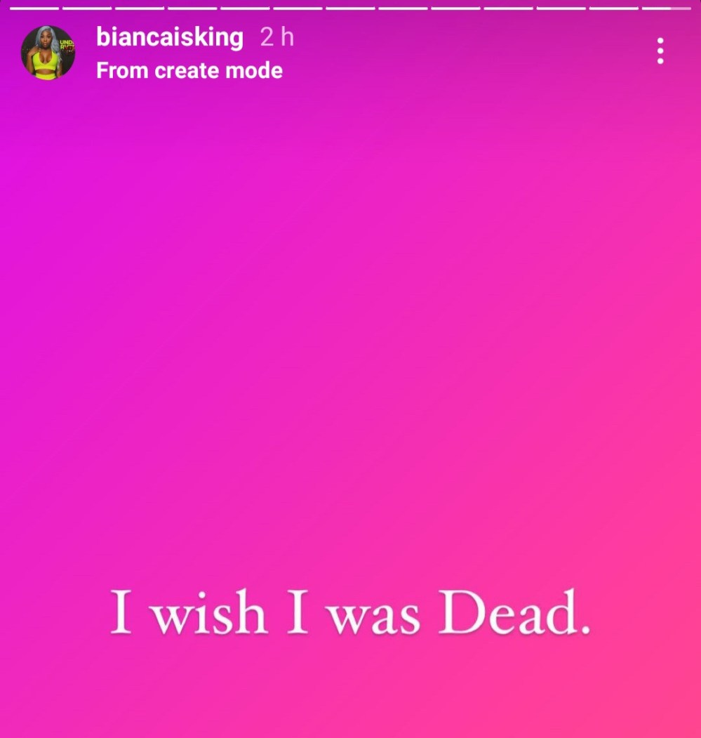 """I wish I was dead"" American rapper Bianca Bonnie shares troubling post"