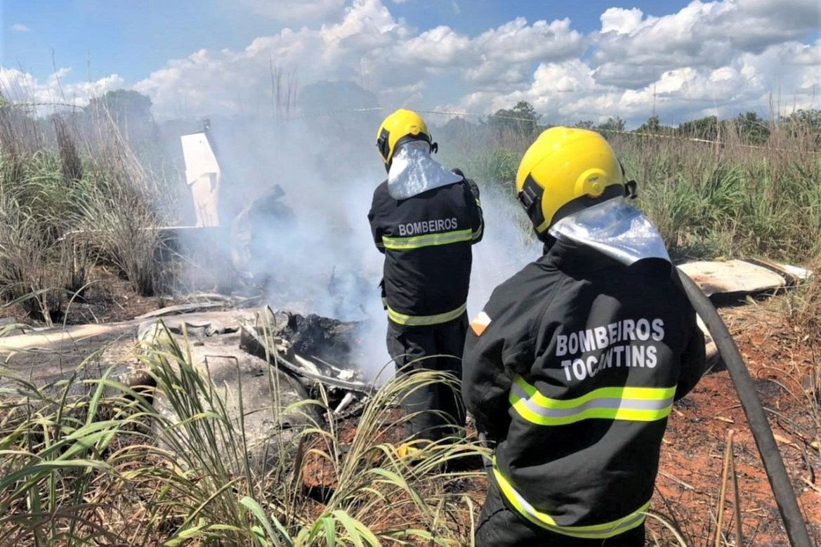 Four players and president of Brazilian fourth-tier club Palmas killed in horror plane crash (photos