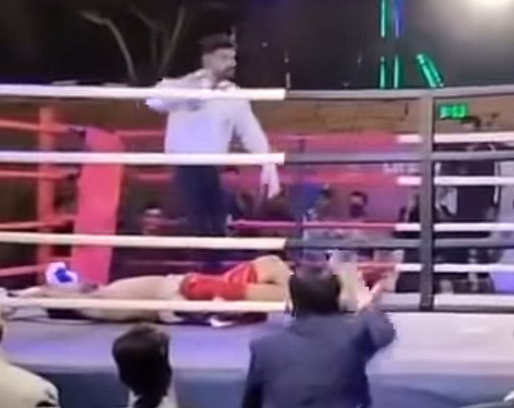 Boxer Muhammad Aslam Khan dies at 27 after collapsing in the ring following brutal knockout by opponent? (photos)