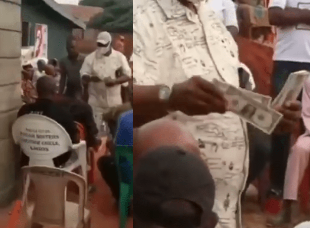 Video of US-based Edo prince, Dennis Abuda spraying dollars in his village few days before he was kidnapped and killed after payment of N10m ransom was made