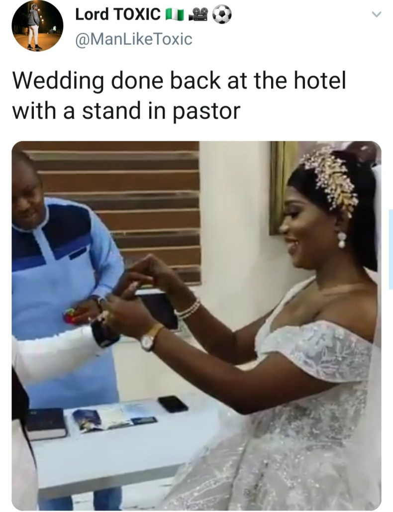 Chaos in church as pastor refuses to wed couple immediately because they were 5 minutes late to church (video)