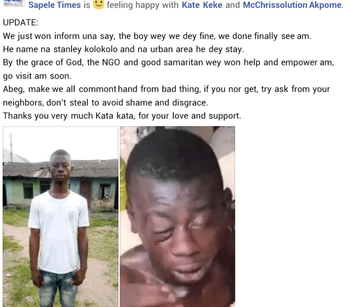 Woman seeks to empower young man beaten to pulp for stealing clothes in Delta