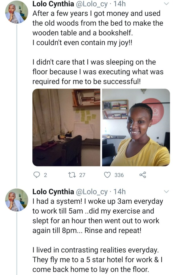 Activist, Lolo Cynthia Ihesie shares inspiring grass to grace story as she gifts herself a new apartment for 26th birthday after years of sleeping on the floor (video)