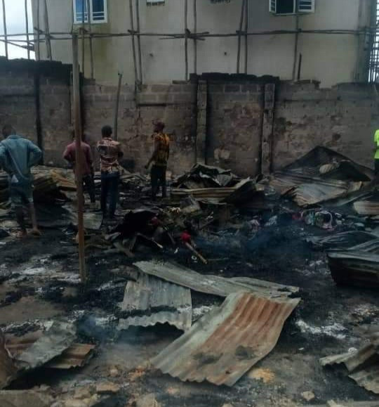 Imo youths set hotel ablaze after sex worker stabbed married customer to death during argument