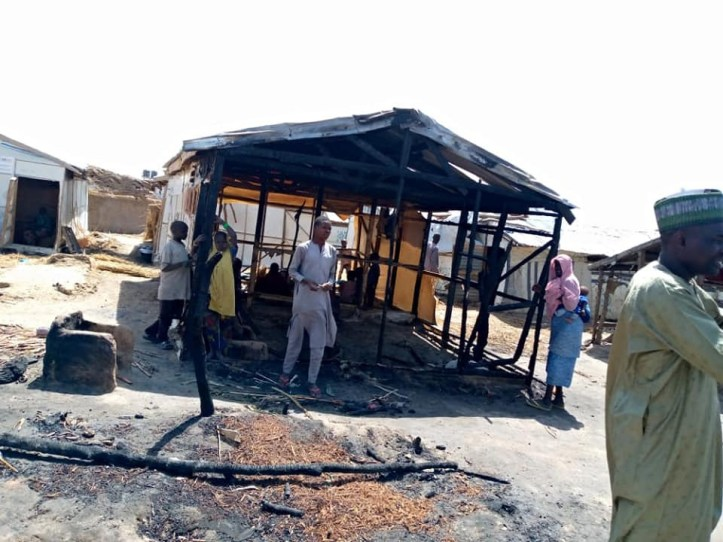 Infant killed, two injured as fire razes IDPs camp in Borno