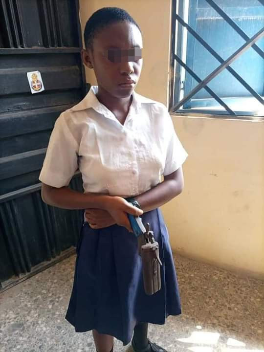 Secondary school student caught in school with local gun she allegedly planned to use in shooting a teacher who asked her to cut her coloured hair