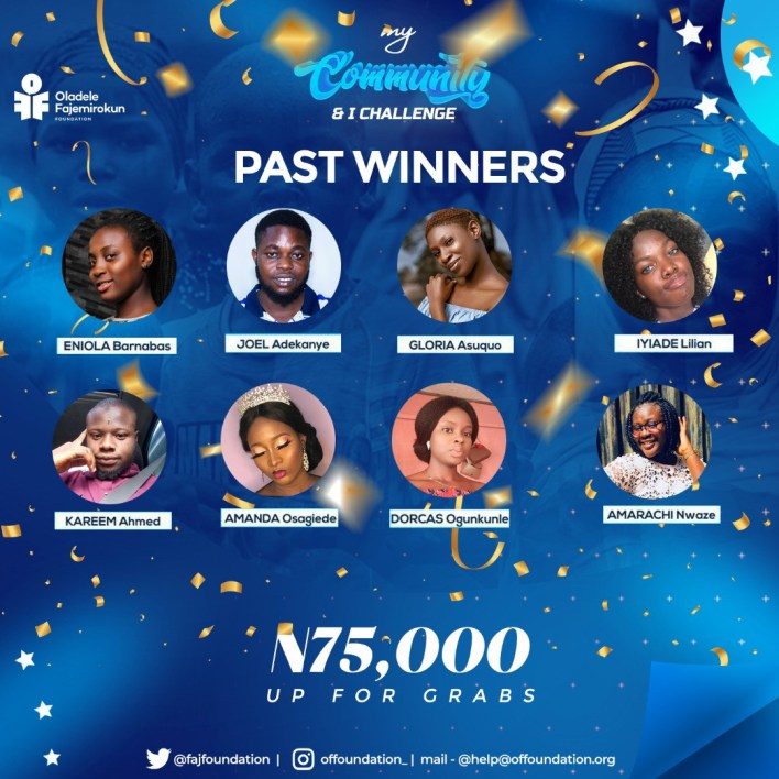 My Community & I challenge: Up to N75000 up for grabs!!