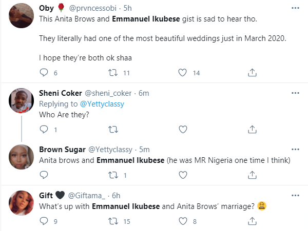 Actor Emmanuel Ikubese and wife, Anita Adetoye spark breakup rumour after unfollowing each other and deleting their wedding photos