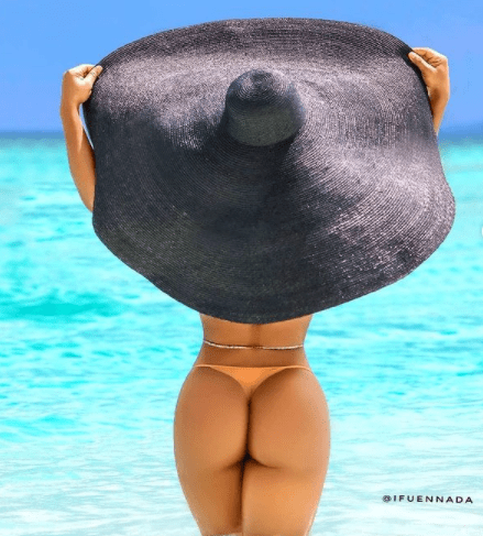 Ifuennada shows off her bare butt in more racy photos