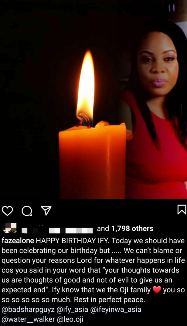 """""""Today we should have been celebrating our birthday"""" Faze remembers his twin sister who died two days to their birthday"""