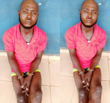 Man arrested in Imo for killing another man who accused him of sleeping with a married woman (photo)