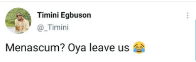 """Oya leave us""- actor Timini Egbuson tells ladies always saying men are scum"