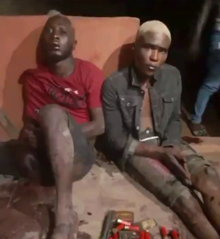 Two big boys tensioning social media with their flamboyant lifestyle are caught during robbery operation (video)