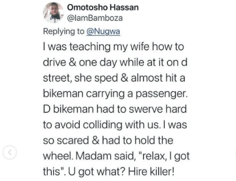 Men share hilarious stories as they express their frustrations of teaching their women how to drive