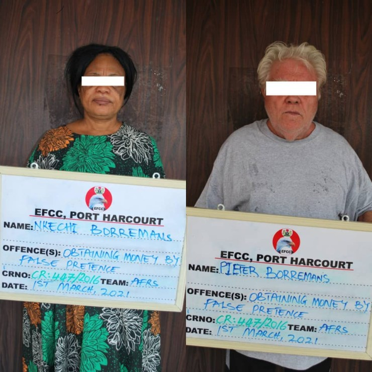 EFCC arraigns Dutch couple and company for $330,000 oil vessel fraud (photos)