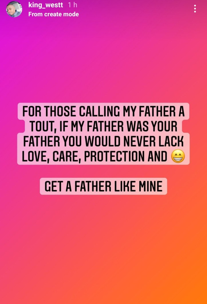 Get a father like mine - MC Oluomo?s son tackles those calling his father a tout