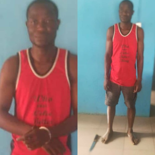 Anambra police arrests man for allegedly stabbing his wife to death with a kitchen knife (photos)